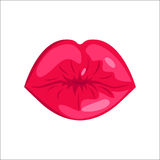 Woman lips vector illustration. Royalty Free Stock Photo
