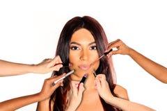 Woman lipstick Stock Photos
