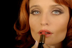 Woman with Lipstick royalty free stock image