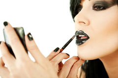 Woman lipstick make up Stock Photos