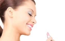 Woman with lipstick Stock Photos