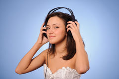 Woman listen music Royalty Free Stock Photo