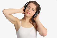 Woman listen music Royalty Free Stock Photo
