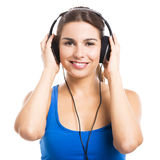 Woman listen music Royalty Free Stock Photography