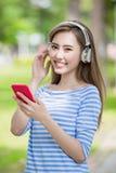 Woman listen music Royalty Free Stock Image
