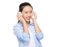 Woman listen to music Royalty Free Stock Photo