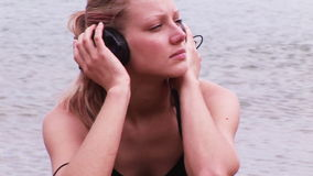Woman Listenig to Music Royalty Free Stock Photo