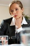 Woman listening Stock Image