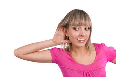 Woman listening gossip Royalty Free Stock Photo