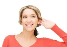 Woman listening gossip Royalty Free Stock Photography