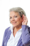 Woman listening Royalty Free Stock Photos