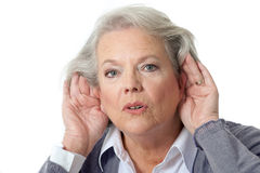 Woman listening Royalty Free Stock Photo