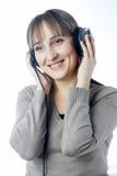 Woman listening music Stock Photography