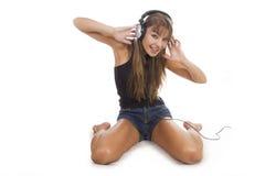 Woman Listening Music Royalty Free Stock Image