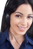 Woman Listening Music on Headphone Royalty Free Stock Image