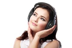 Woman listening music Royalty Free Stock Photos