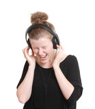 Woman listening to music. Woman listening to some music Stock Photography