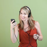 Woman Listens To Music Royalty Free Stock Photos