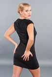 Woman in little black dress. Stock Image