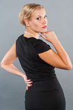 Woman in little black dress. Royalty Free Stock Photo
