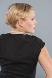 Woman in little black dress. Stock Photos