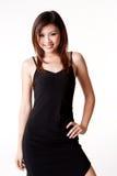 Woman in little black dress stock photos