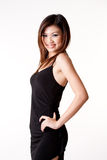 Woman in little black dress Stock Photography