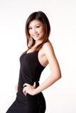 Woman in little black dress stock photo
