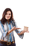 Woman and the little box Royalty Free Stock Images