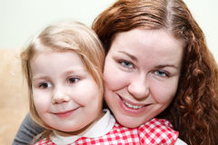 Woman and little girl Royalty Free Stock Image