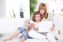 Woman and little girl Stock Photography