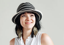 Woman In little Sunhat Royalty Free Stock Photography