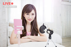Woman in Live Royalty Free Stock Photography