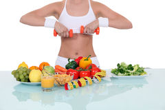 Woman living a healthy lifestyle Royalty Free Stock Photos