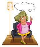 Woman in living room Stock Image