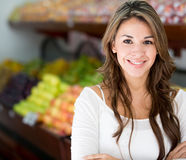 Woman at the local market Royalty Free Stock Photography