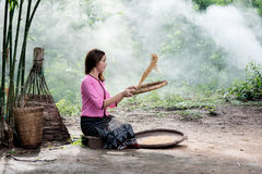 Woman in local  thailand Stock Photography