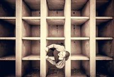 Woman locked tomb Royalty Free Stock Image