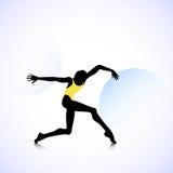 Woman logo dancer Royalty Free Stock Image