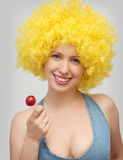 Woman with lollipop Stock Photos