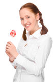 Woman with lolly Royalty Free Stock Image