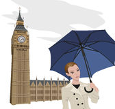 Woman in London Stock Image