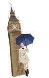 Woman in London Stock Photo