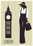 Woman in London. Royalty Free Stock Photography