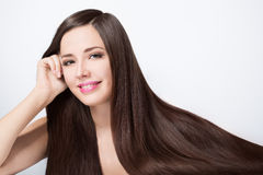 Woman with long beautiful hair Royalty Free Stock Photography