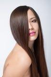 Woman with long beautiful hair Stock Photos