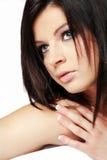 Woman with long black hair. Stock Photos