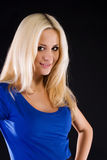 Woman with a long blonde hair Royalty Free Stock Photography
