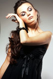 Woman with Long Brown Hair Royalty Free Stock Photos