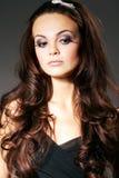 Woman with Long Brown Hair Stock Photos